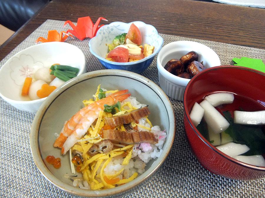 海の日のちらし寿司