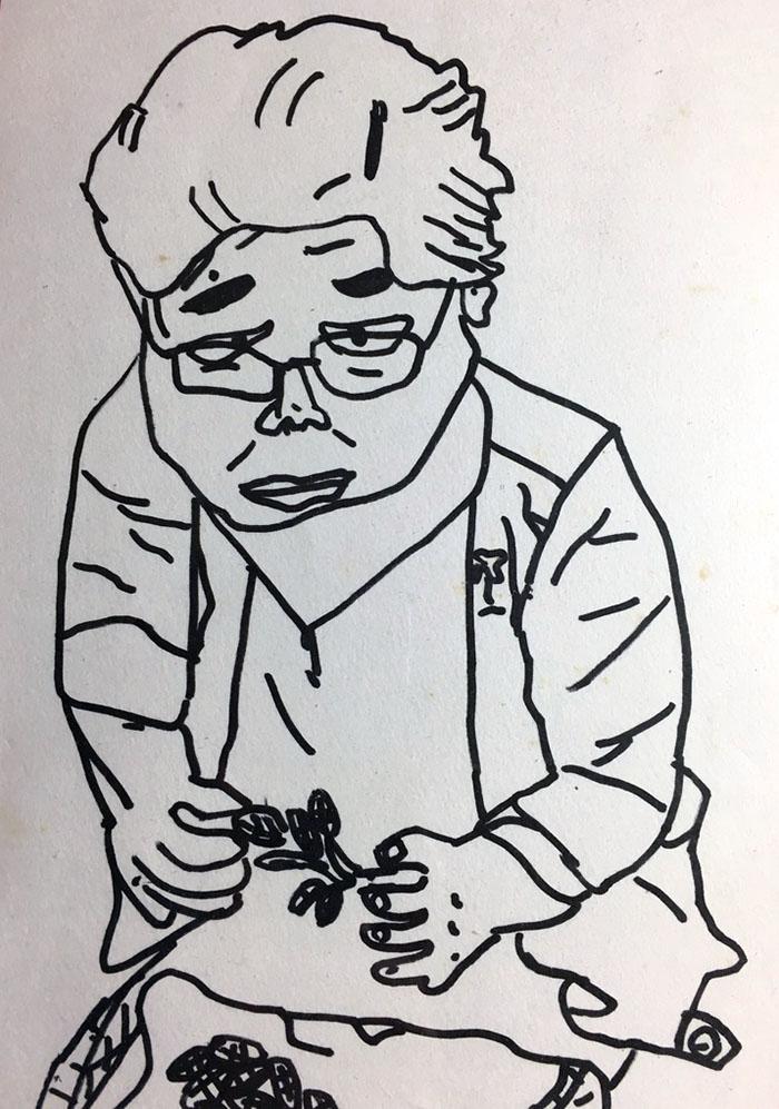 亡き祖母のスケッチ