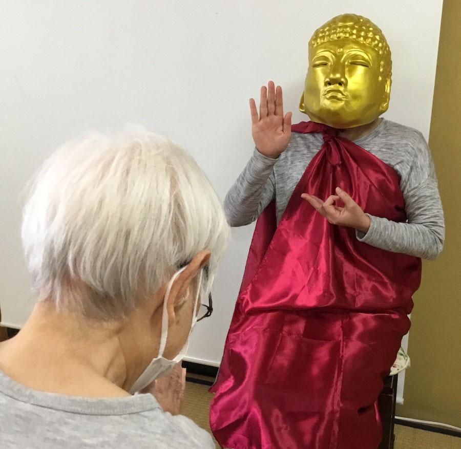 金色の大仏様が現れた!